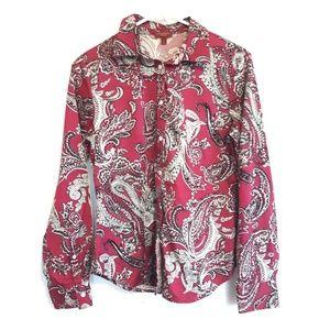 Talbots Haberdasher paisley print longsleeve shirt